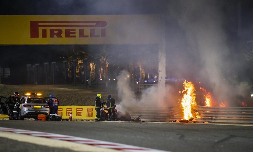 Bahrain: Formel-1-Rennfahrer Grosjean meldet sich aus dem Krankenhaus