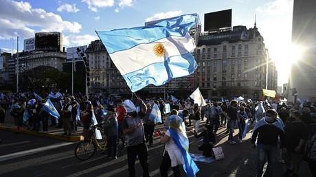 Demonstration gegen die Verlängerung des Lockdowns (Buenos Aires, 12. Oktober 2020)