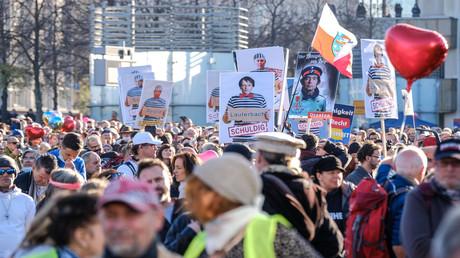 Demonstrationsteilnehmer am Samstag in Leipzig