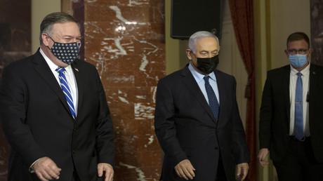 US-Außenminister Mike Pompeo (links) und der israelische Premierminister Benjamin Netanjahu nach einem Treffen in Jerusalem am 19. November 2020