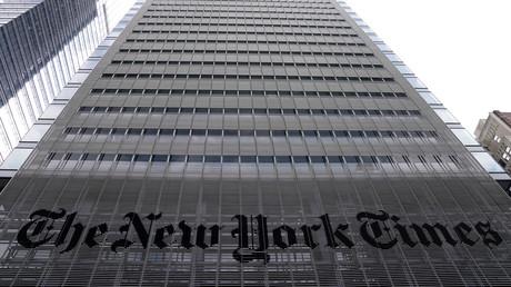 Das Büro der New York Times befindet sich im Stadtbezirk Manhattan von New York City, New York, USA.