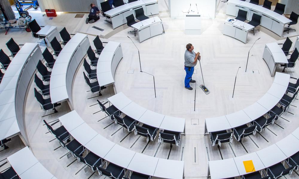 Mecklenburg-Vorpommern: Gebäude der Landesverwaltung sollen seltener gereinigt werden