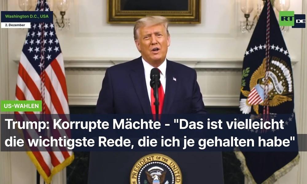 """Trump: """"Das ist vielleicht die wichtigste Rede, die ich je gehalten habe"""""""