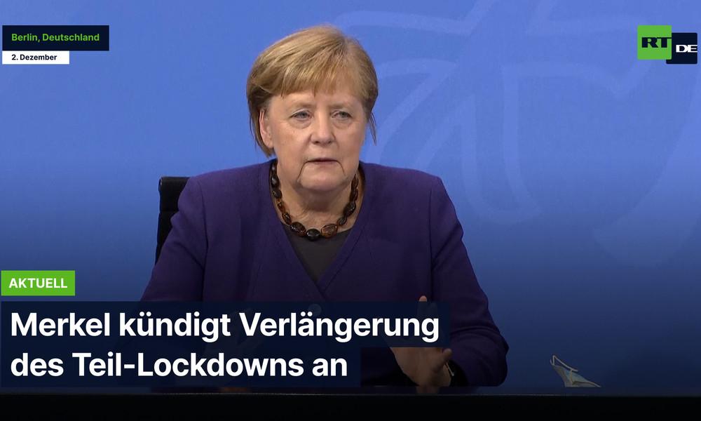 Berlin: Merkel kündigt Verlängerung des Teil-Lockdowns an