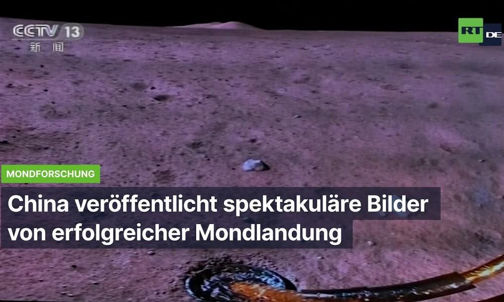 China veröffentlicht spektakuläre Bilder von erfolgreicher Mondlandung