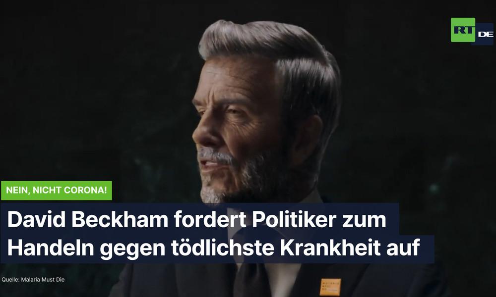 Nein, nicht Corona: David Beckham fordert Politiker zum Handeln gegen tödlichste Krankheit auf