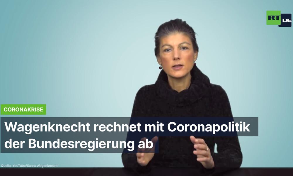 Wagenknecht rechnet mit Coronapolitik der Bundesregierung ab