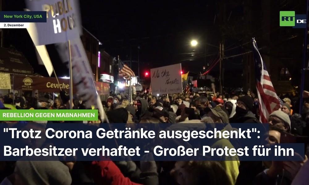"""""""Trotz Corona Getränke ausgeschenkt"""": Barbesitzer verhaftet – Großer Protest für ihn"""