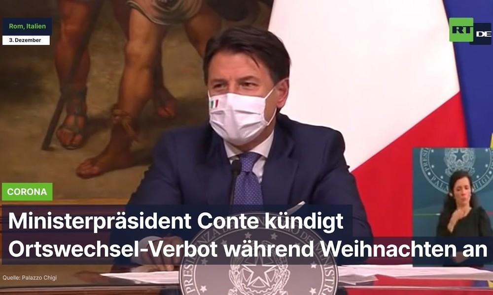 Italien: Ministerpräsident Conte kündigt Ortswechsel-Verbot während Weihnachten an