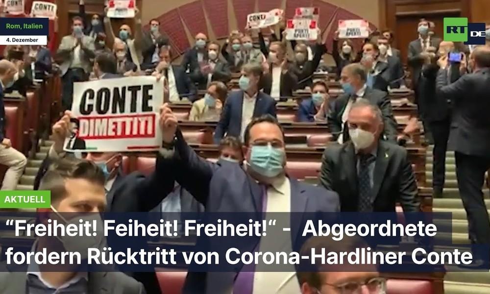 Italien: Abgeordnete fordern Rücktritt von Corona-Hardliner Conte