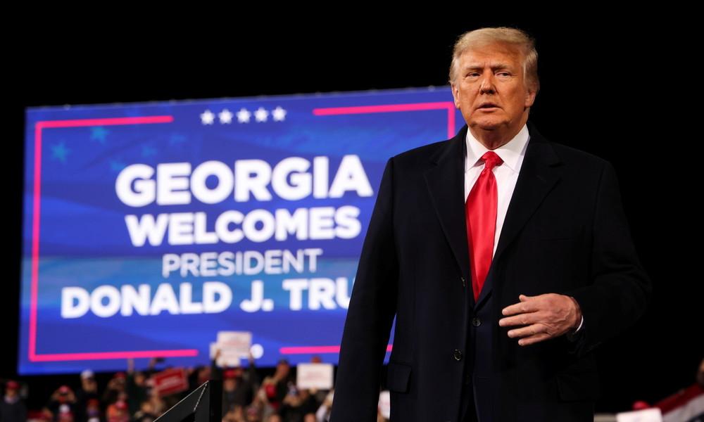 Donald Trump sieht sich bei Kundgebung in Georgia weiter als Wahlsieger