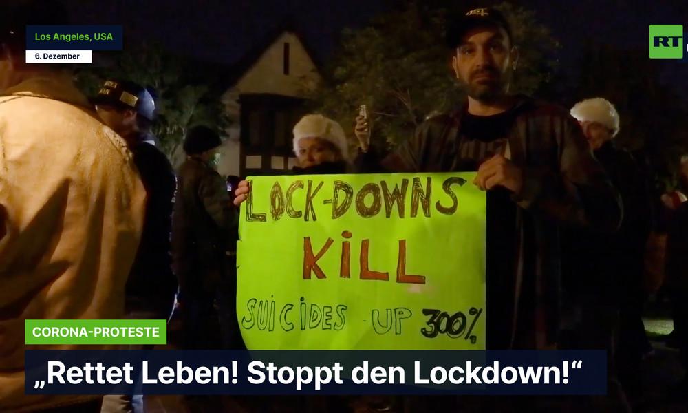 "Los Angeles: Protest vor dem Haus des Bürgermeisters – ""Rettet Leben! Stoppt den Lockdown!"""