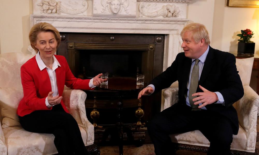 Von der Leyen und Johnson: Voraussetzungen für Brexit-Handelsabkommen nicht gegeben