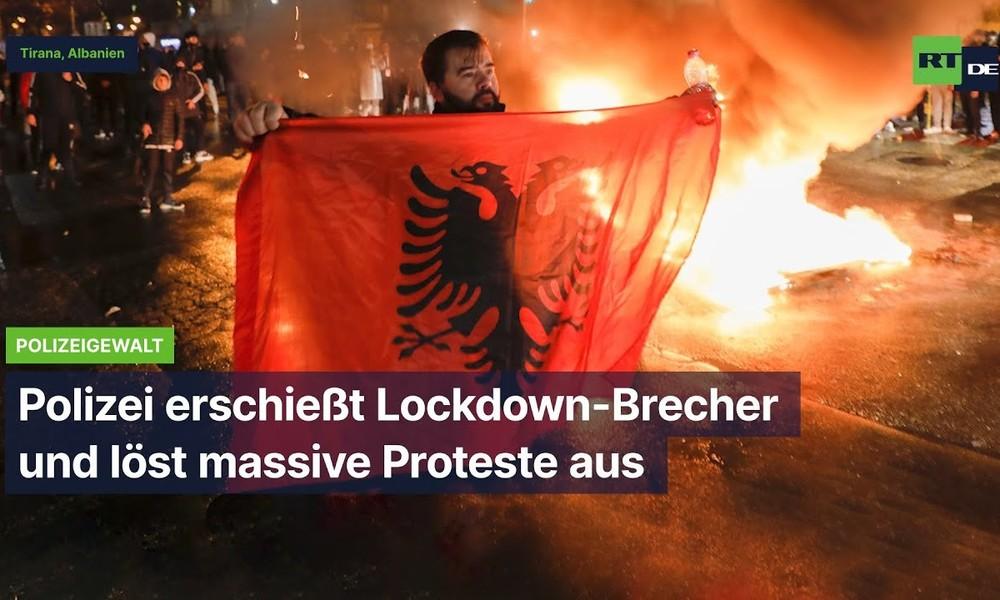 Tirana: Demonstration gegen Polizeigewalt – 25-Jähriger wegen Lockdown-Verstoß erschossen