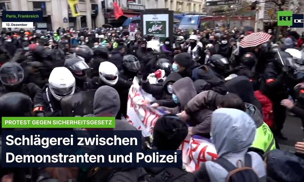 Paris: Gegen das Sicherheitsgesetz – Demonstranten prügeln sich mit Polizei
