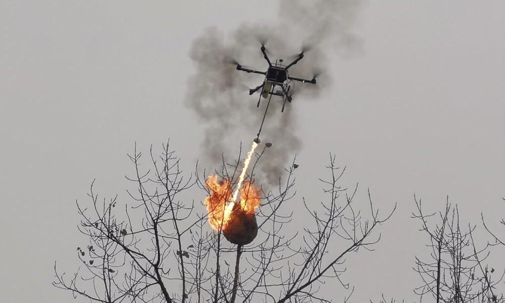 Schwarmfinanzierung gegen Wespen: Chinesische Tüftler bauen Drohne zu Flammenwerfer um