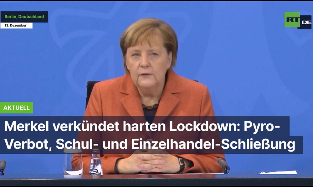 Merkel verkündet harten Lockdown: Pyro-Verbot, Schul- und Einzelhandel-Schließung