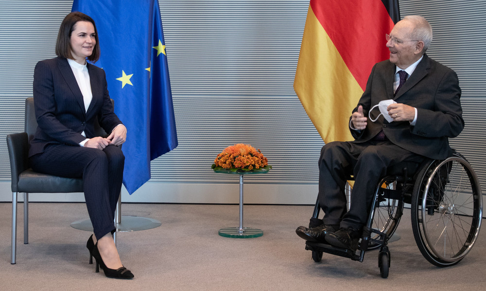 Swetlana Tichanowskaja fordert Ausweitung der EU-Sanktionen gegen weißrussische Behörden