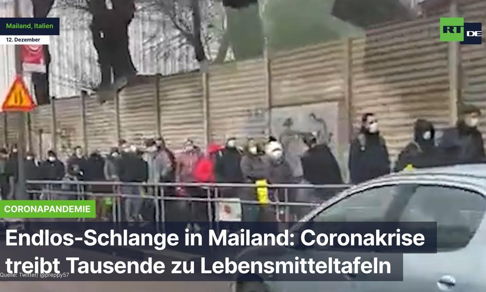 Endlos-Schlange in Mailand: Coronakrise treibt Tausende zu Lebensmitteltafeln