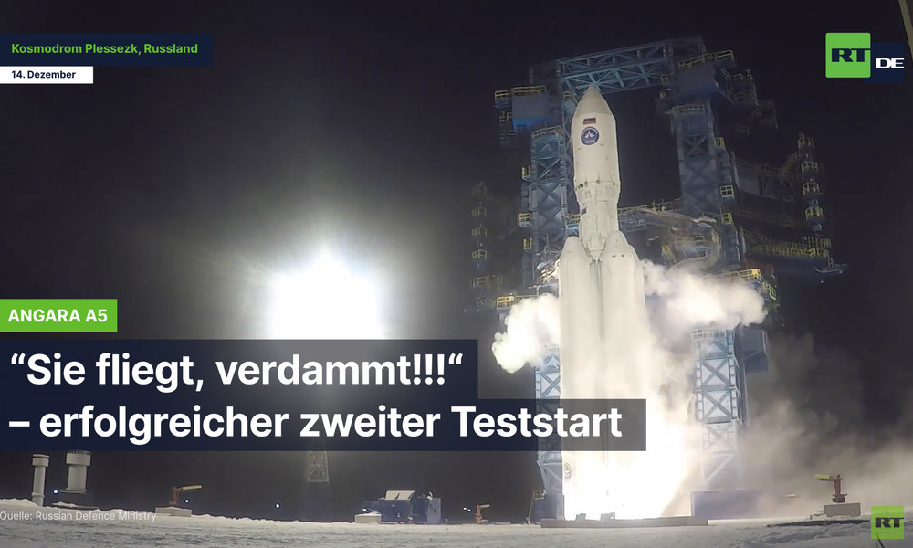 "Russlands ""Öko-Rakete"" Angara A5 bringt erfolgreich Last in die Umlaufbahn"
