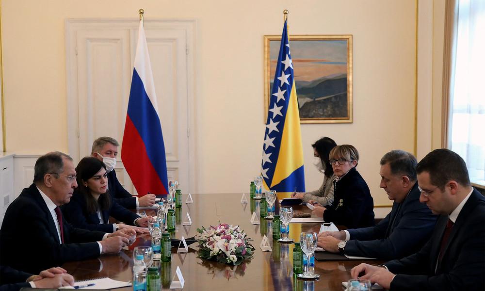 Bosniakische und kroatische Vertreter boykottieren Gespräche mit russischem Außenminister in Bosnien