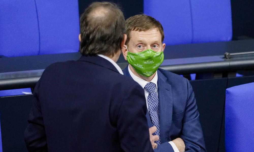 Sachsen will Kommunen mit hohen Inzidenzwerten von der Außenwelt abriegeln