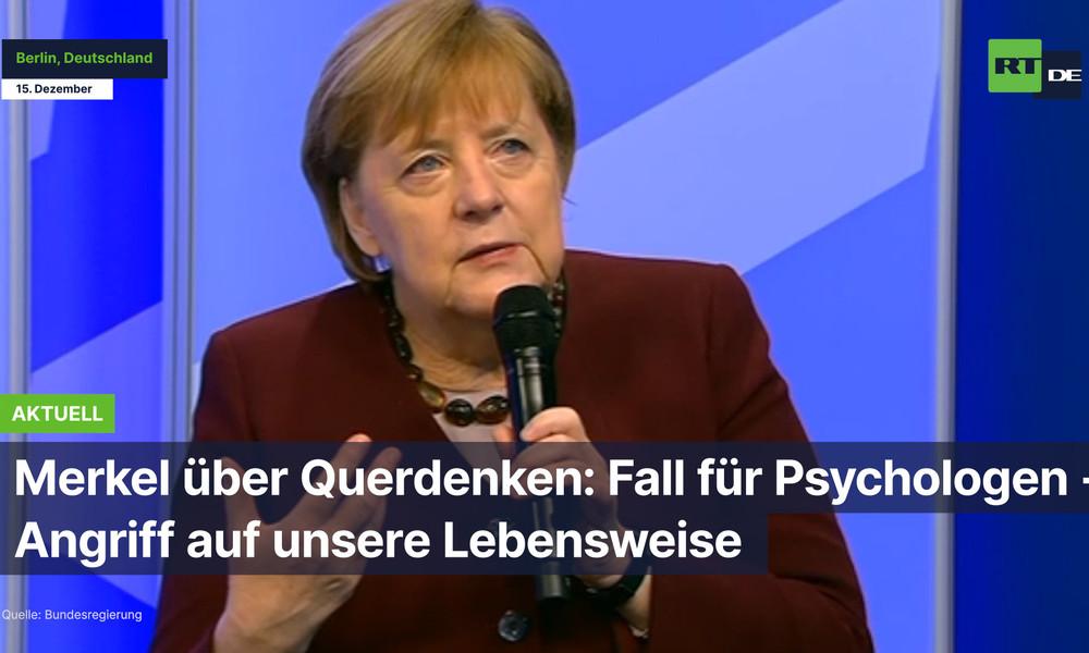 """Merkel über Querdenken: """"Fall für Psychologen"""" – """"Angriff auf unsere Lebensweise"""""""