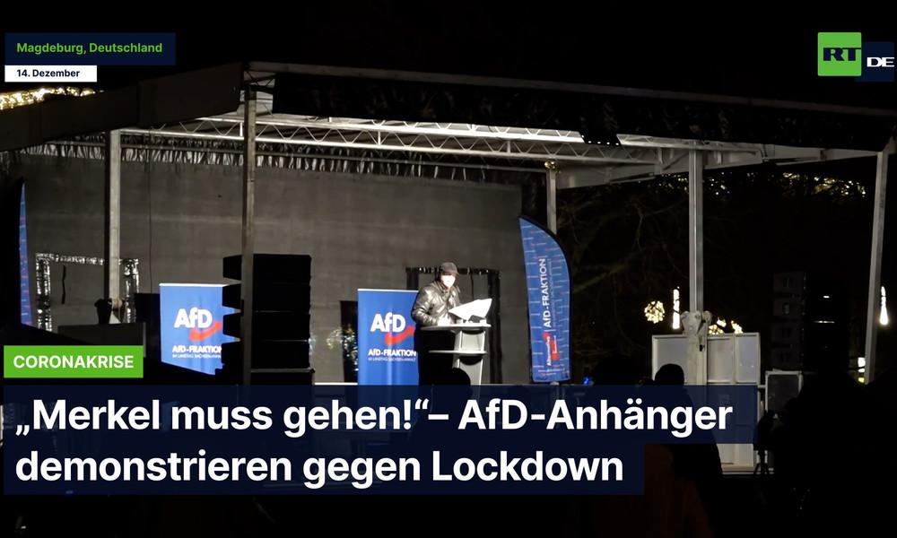 "Magdeburg: ""Merkel muss gehen!"" – AfD-Anhänger demonstrieren gegen Lockdown"