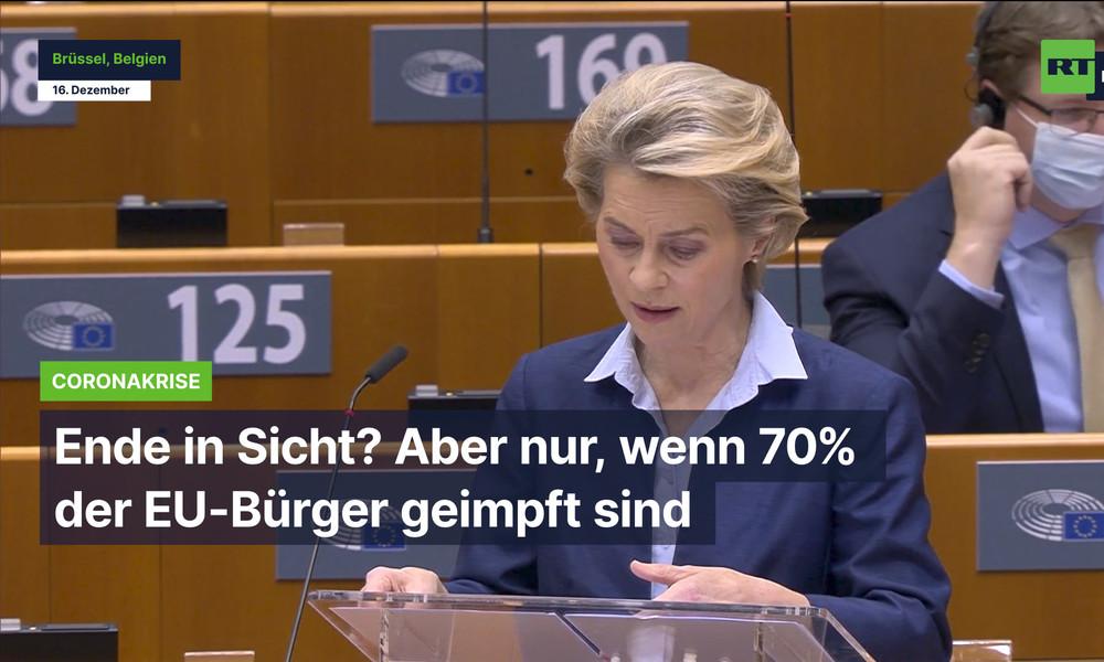 Ursula von der Leyen: Wir haben mehr als genug Corona-Impfungen für jeden in Europa gekauft