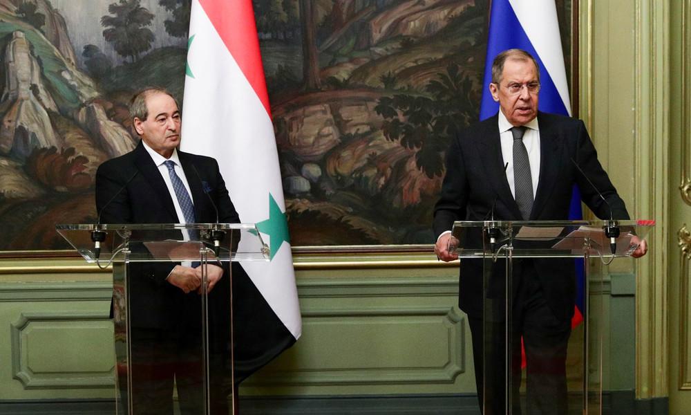 Moskau: Lawrow trifft sich mit neuem syrischen Außenminister Mekdad