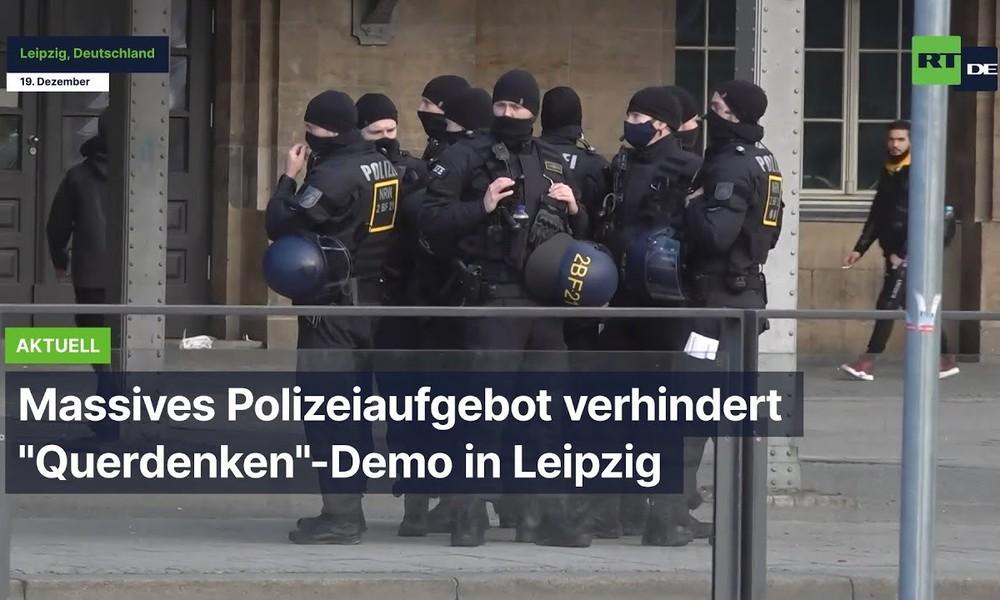 """Massives Polizeiaufgebot verhindert """"Querdenken""""-Demo in Leipzig"""