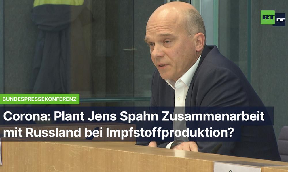 Bundespressekonferenz: Plant Jens Spahn Zusammenarbeit mit Russland bei Impfstoffproduktion?