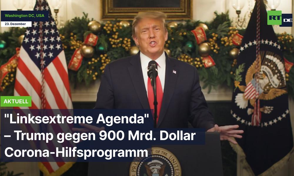 """Washington: """"Linksextreme Agenda"""" – Trump gegen Corona-Hilfsprogramm"""