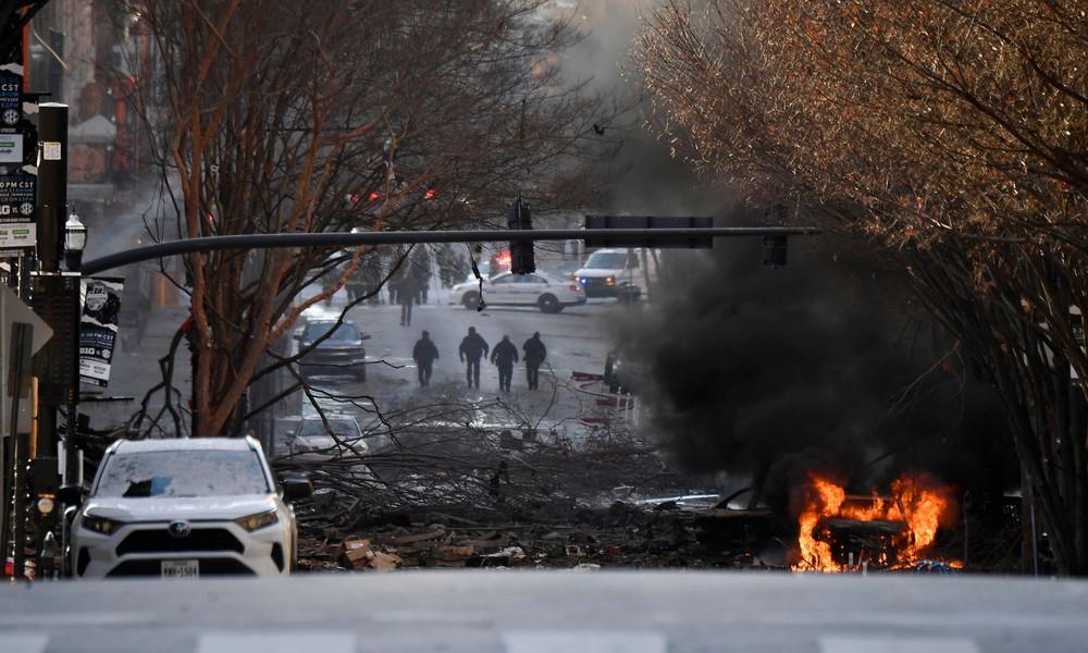 USA: Verletzte bei großer Explosion in Nashville – Ermittler gehen von vorsätzlicher Tat aus