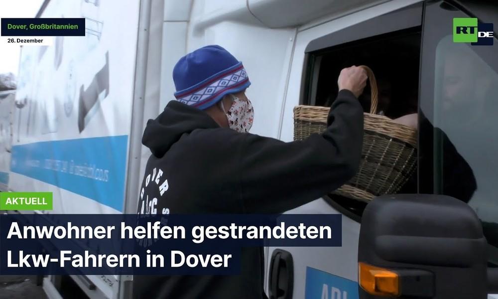 Dover: Anwohner helfen gestrandeten Lkw-Fahrern