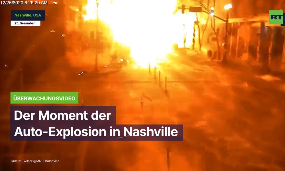USA: Aufnahme von Überwachungskamera zeigt den Moment der Auto-Explosion in Nashville