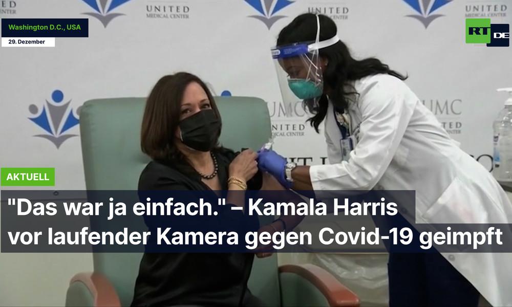 """""""Das war ja einfach!"""" – Kamala Harris vor laufender Kamera gegen COVID-19 geimpft"""