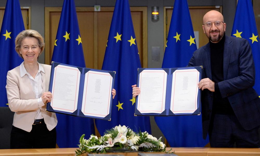 Letzte Hürde genommen: EU-Spitze unterzeichnet Brexit-Handelsabkommen