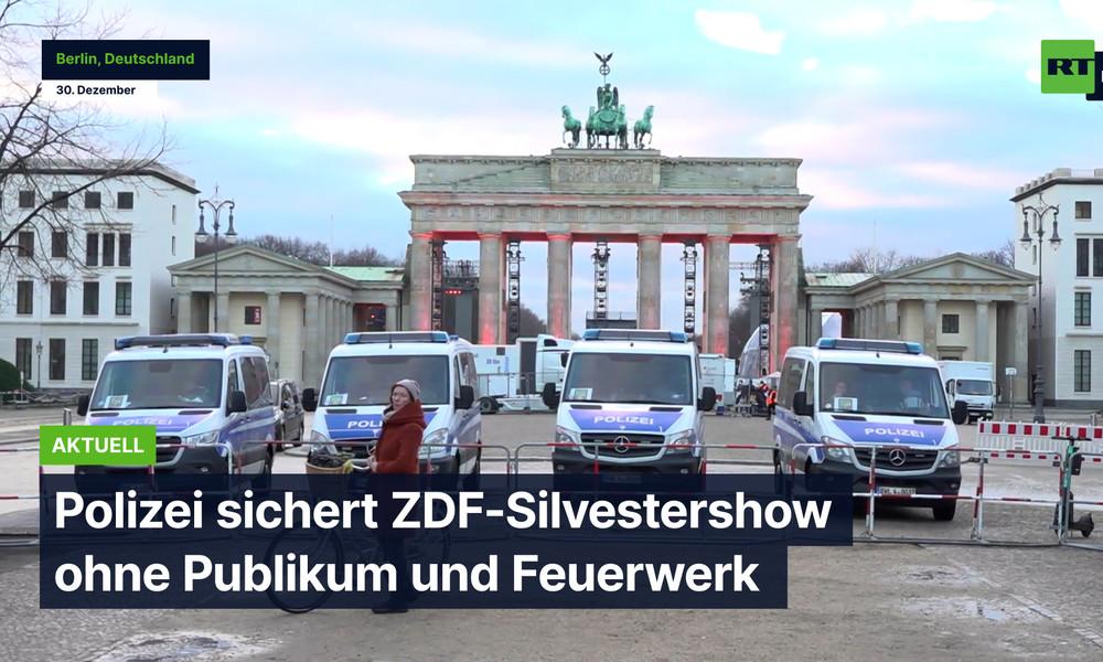 Berlin: Polizei sichert ZDF-Silvestershow ohne Publikum und Feuerwerk