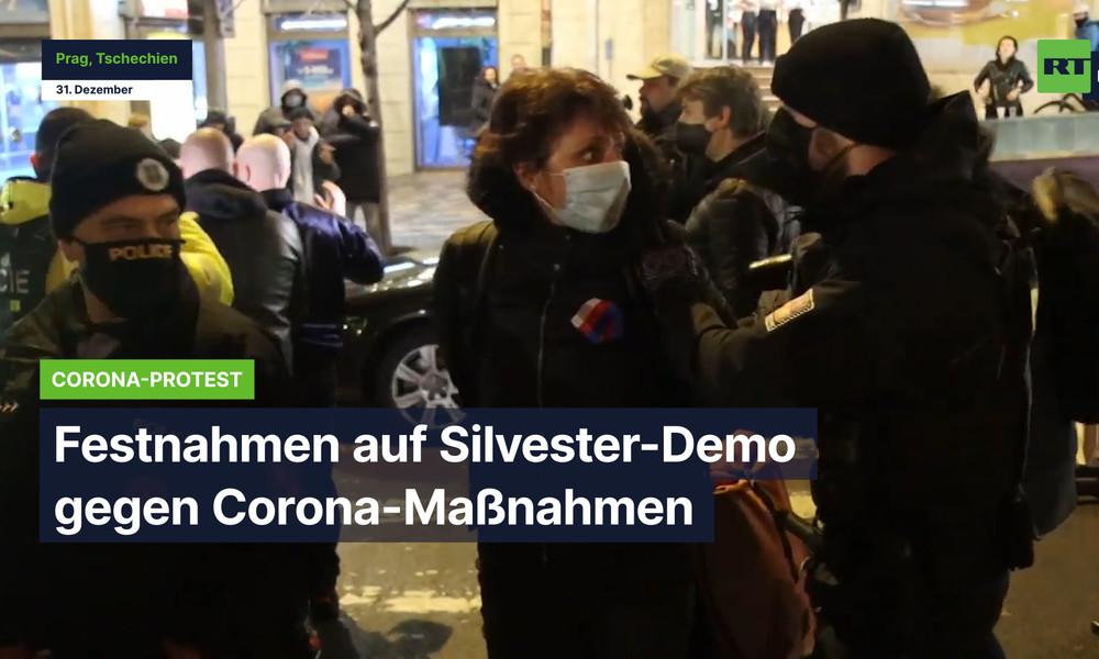 Prag: Festnahmen auf Silvester-Demo gegen Corona-Maßnahmen