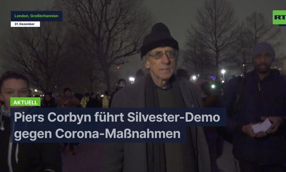 London: Piers Corbyn führt Silvester-Demo gegen Corona-Maßnahmen an
