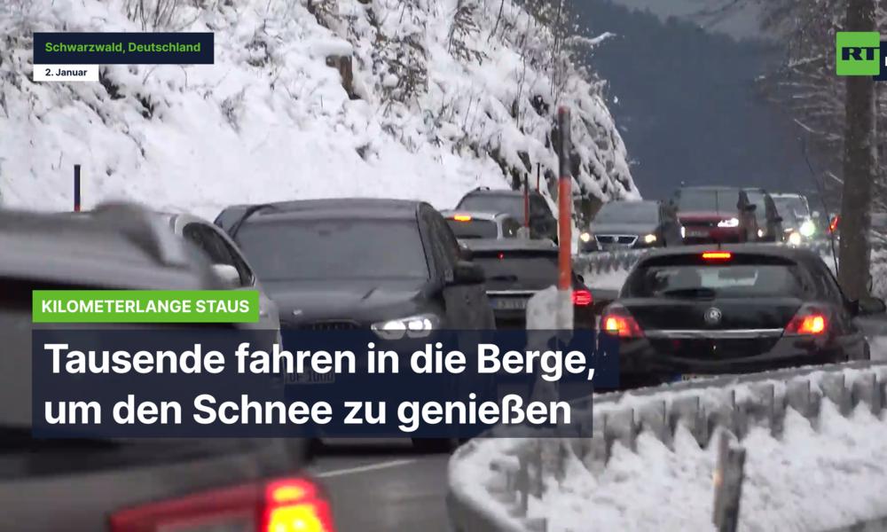 Deutschland: Tausende fahren in den Schwarzwald, um den Schnee zu genießen