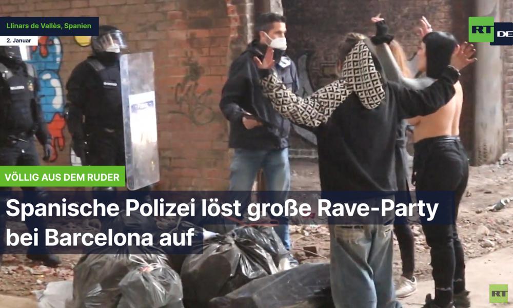 Spanische Polizei löst große Rave-Party bei Barcelona auf: 3000 Euro Strafe pro Teilnehmer