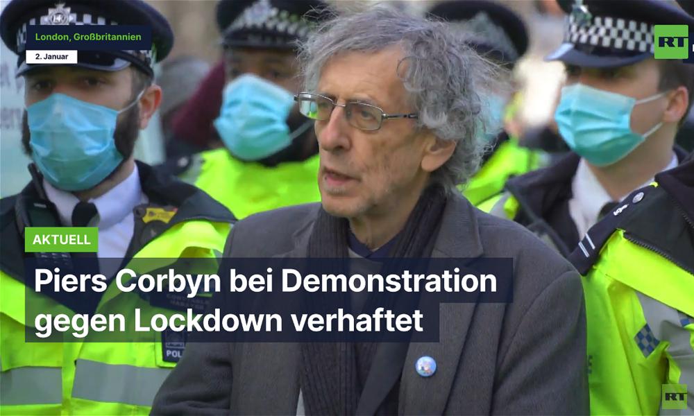 London: Piers Corbyn bei Demonstration gegen Lockdown verhaftet