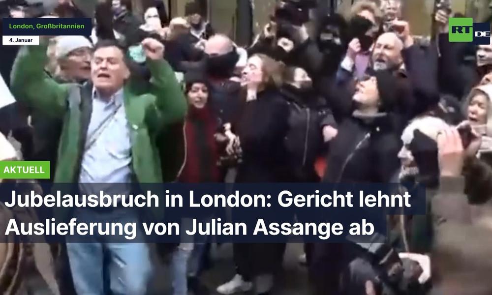 Jubelausbruch in London: Gericht lehnt Auslieferung von Julian Assange ab