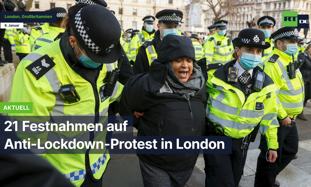 London: 21 Festnahmen auf Anti-Lockdown-Protest
