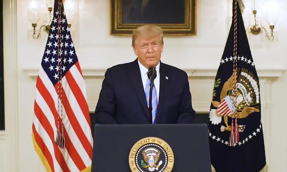 """""""Abscheuliche Attacke!"""" – Donald Trump verurteilt den Kapitol-Sturm seiner Anhänger"""