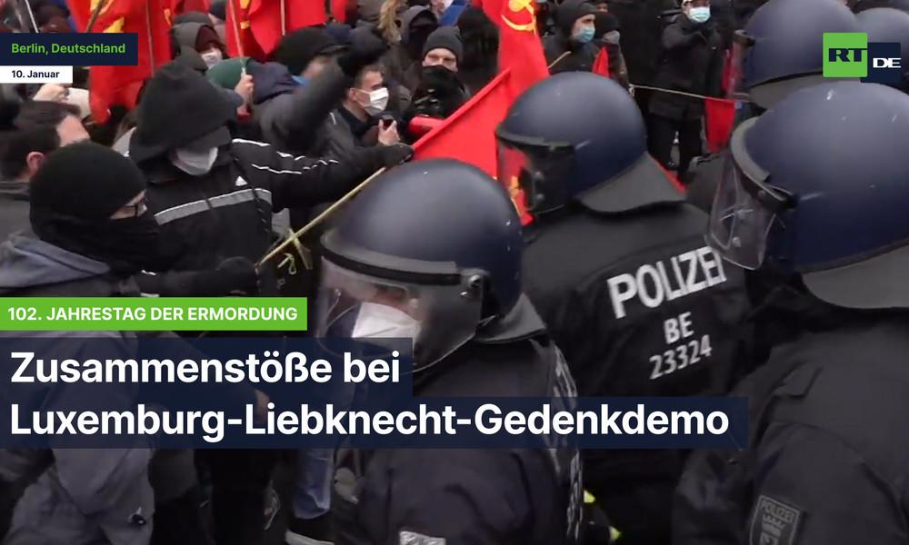 Zusammenstöße bei Luxemburg-Liebknecht-Gedenkdemo anlässlich 102. Jahrestag ihrer Ermordung