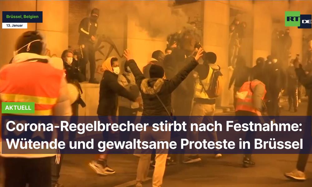 Corona-Regelbrecher stirbt nach Festnahme: Wütende und gewaltsame Proteste in Brüssel