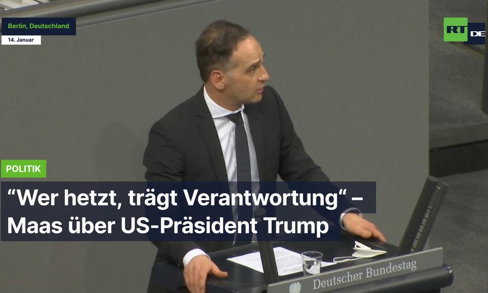 """Berlin: """"Wer hetzt, trägt Verantwortung"""" – Maas über US-Präsident Trump"""
